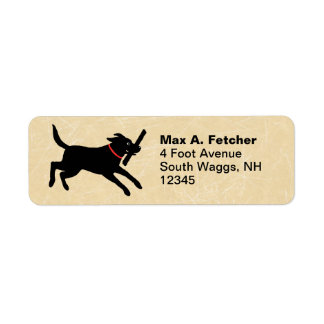 Labrador Retriever Running Return Address Label