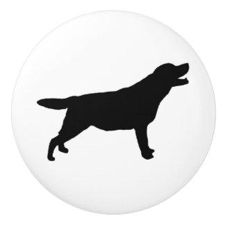 Labrador Retriever Silhouette Love Dogs Ceramic Knob
