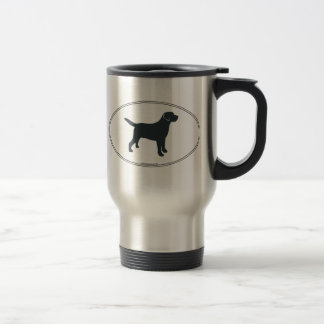 Labrador Retriever Silhouette Travel Mug
