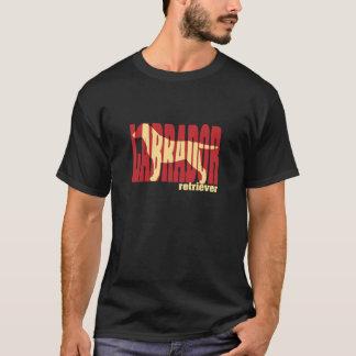 Labrador Retriever silhouette, yellow T-Shirt