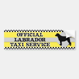 Labrador Retriever Taxi Service Bumper Sticker Car Bumper Sticker