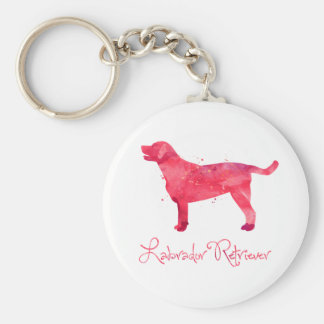 Labrador Retriever Watercolor Design Key Ring