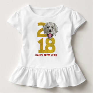Labrador retriever Year of the Dog 2018 New Year Toddler T-Shirt