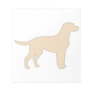 Labrador Retriever yellow color silo Notepad