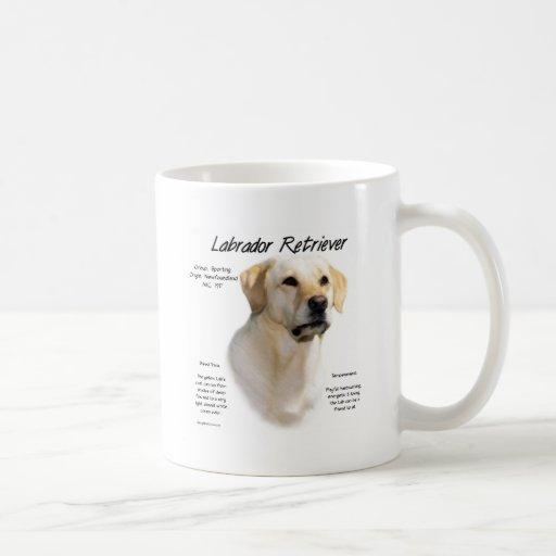 Labrador Retriever (yellow) History Design Coffee Mug