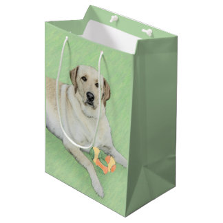 Labrador Retriever (Yellow) Medium Gift Bag
