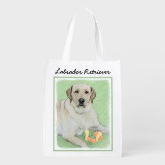Labrador Retriever (Yellow) Reusable Grocery Bag