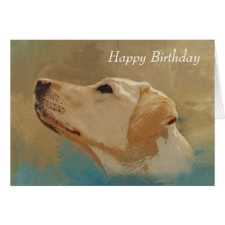 Labrador Retrievers: Happy Birthday Yellow Lab Pet Card