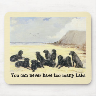 Labrador Retrievers On The Beach Mousepad