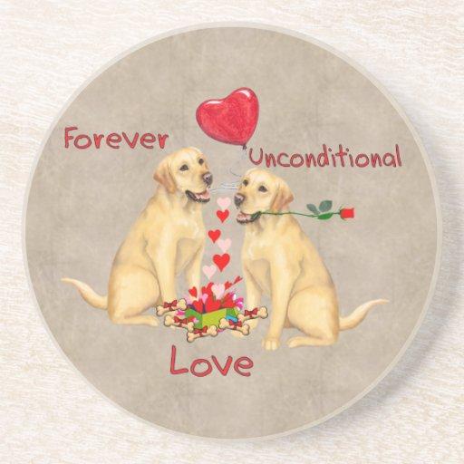 Labrador Valentine Drink Coasters