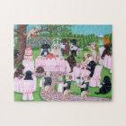 Labrador Wedding Painting Jigsaw Puzzle