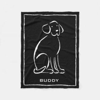 Labradore Art Pick Color, Add Name Fleece Blanket