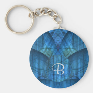 Labradorite Gems Monogram Keychain