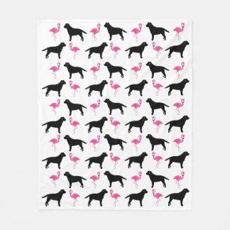 Labradors and Flamingos Blanket - Medium