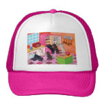 Labradors in the Kitchen Painting Trucker Hats