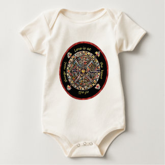 """Labrynth-""""Love is at the Heart of All Things Real"""" Baby Bodysuit"""
