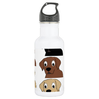labs 3 colors cartoon head 532 ml water bottle