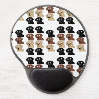 labs 3 colors cartoon head gel mouse pad