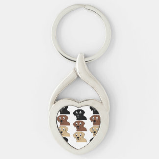 labs 3 colors cartoon head key ring