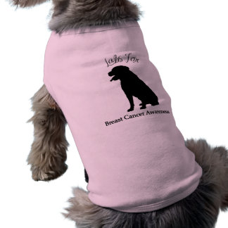 Labs For Breast Cancer Awareness Sleeveless Dog Shirt