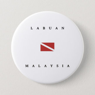 Labuan Malaysia Scuba Dive Flag 7.5 Cm Round Badge