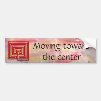 Labyrinth Bumper Sticker - Moving Toward Center