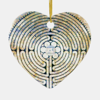 Labyrinth Ceramic Heart Decoration