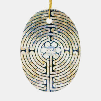 Labyrinth Ceramic Oval Decoration