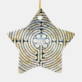 Labyrinth Ceramic Star Decoration