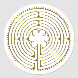 Labyrinth Chartres Round Sticker
