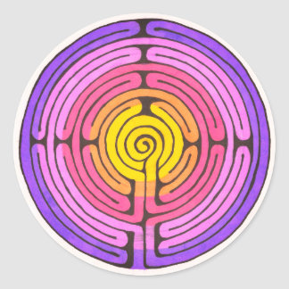 Labyrinth Classic Round Sticker