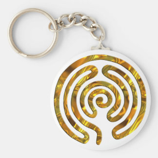 Labyrinth GOLD | make your own background Key Ring
