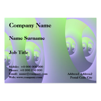 Labyrinth in Lilac and Green Chubby Business Card