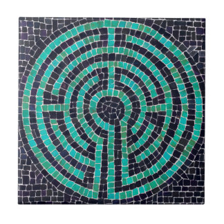 Labyrinth Mosaic III Small Ceramic Tile