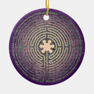 Labyrinth Round Ceramic Decoration