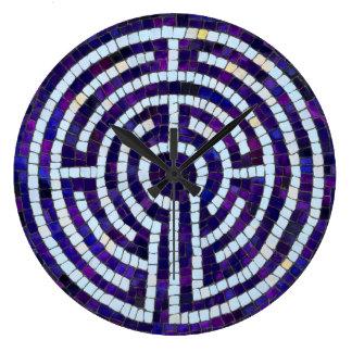 Labyrinth VIII Large Clock