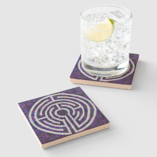 Labyrinth VIII Stone Coaster