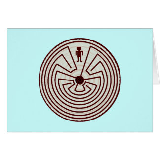 Labyrinth Walkers Walker A~Maze~ing Gifts Greeting Card