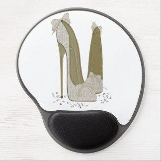 Lace and Bows Stiletto Shoe Art Gel Mousepad
