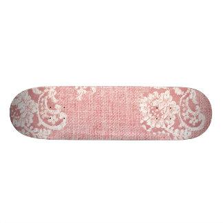 Lace and Burlap Beautiful Texture Skate Deck