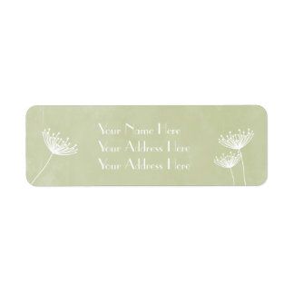 Lace and Floral Wedding Address Labels