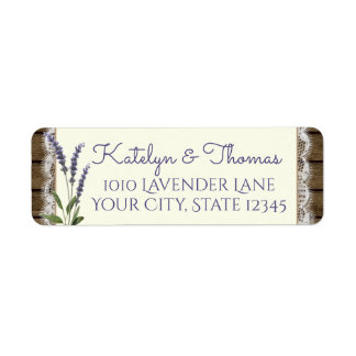 Lace and Lavender Barn Wood Address Return Address Label