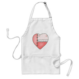 Lace and Roses Heart T-shirts and Gifts Standard Apron