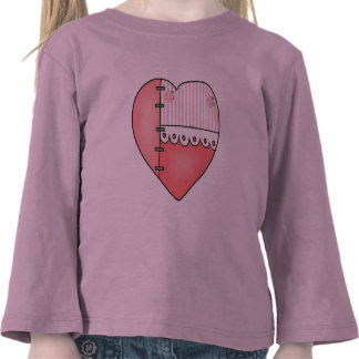 Lace and Roses Heart T-shirts and Gifts