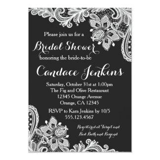 Lace Black and White Bridal Shower invitation