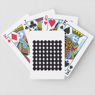 Lace black on white bicycle playing cards