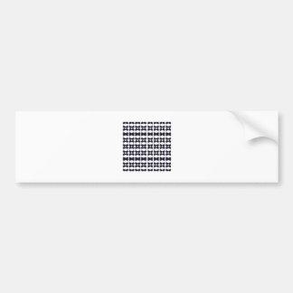 Lace black on white bumper sticker