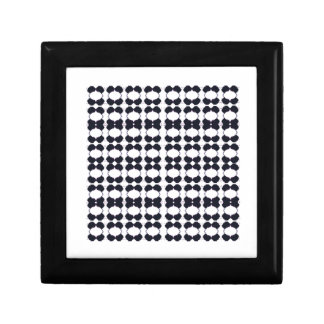 Lace black on white gift box