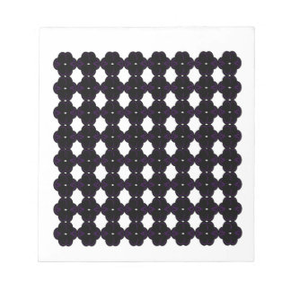 Lace black on white notepad