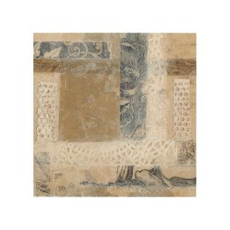 Lace Collage II Wood Print